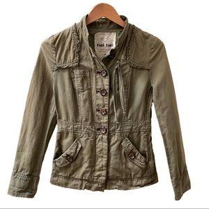 Anthropologie Hei Hei Utility Jacket Green Size 4